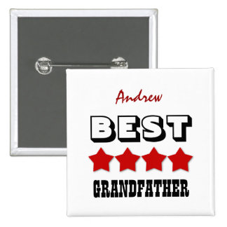 Best GRANDFATHER with Stars RED V05 Button