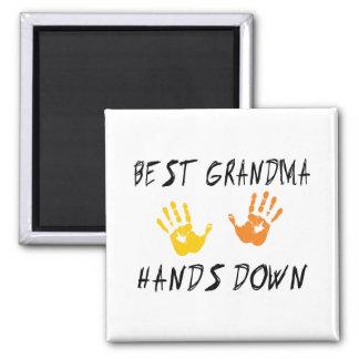 Best Grandma 2 Inch Square Magnet