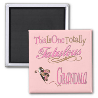 Best Grandma Ever 2 Inch Square Magnet