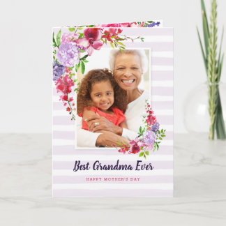 Best Grandma Ever Custom Mother's Day Photo Card