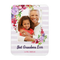 Best Grandma Ever Custom Mother's Day Photo Magnet
