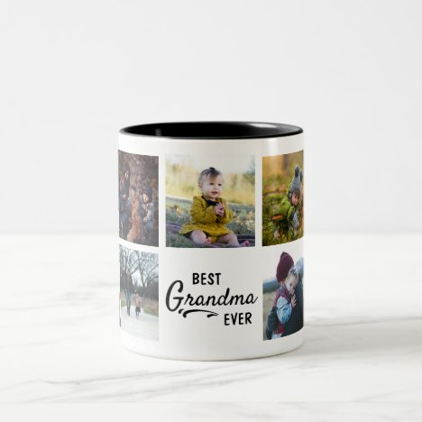 Best Grandma Ever Custom Photo Mug