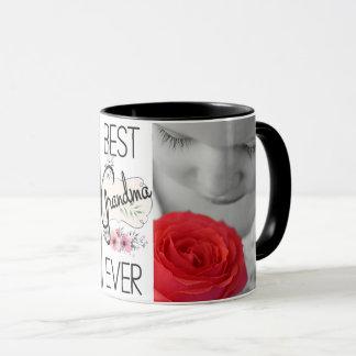 Best Grandma Ever Custom Photos Mug