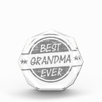 Best Grandma Ever Gray Acrylic Award