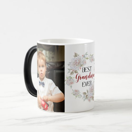 Best Grandma Ever Mothers Day Photo Collage Magic Mug
