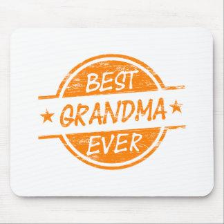 Best Grandma Ever Orange Mouse Pad