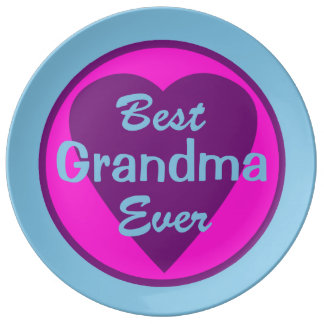 Best Grandma Ever Plate