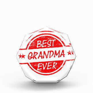 Best Grandma Ever Red Acrylic Award
