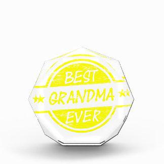 Best Grandma Ever Yellow Award