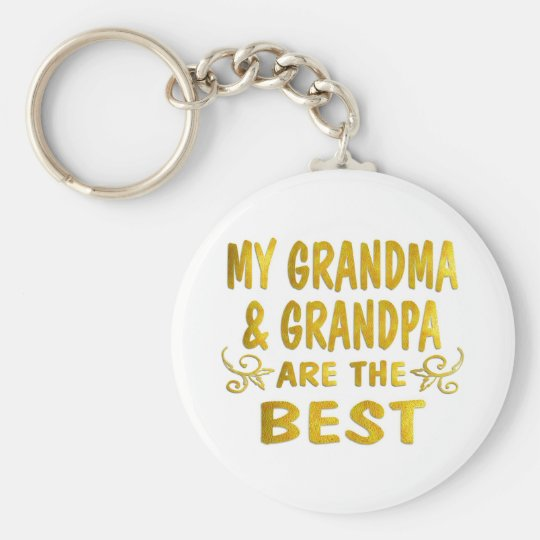 Best Grandma & Grandpa Keychain
