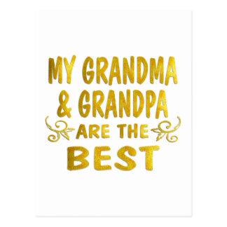Best Grandma & Grandpa Postcard