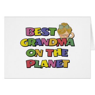 Best Grandma On The Planet Greeting Card