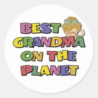 Best Grandma On The Planet Classic Round Sticker