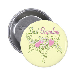 Best Grandma Swirling Hearts Button