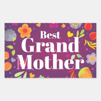 Best Grandmother Rectangular Sticker