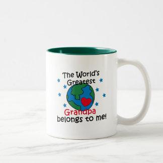 Best Grandpa Belongs to me Two-Tone Coffee Mug