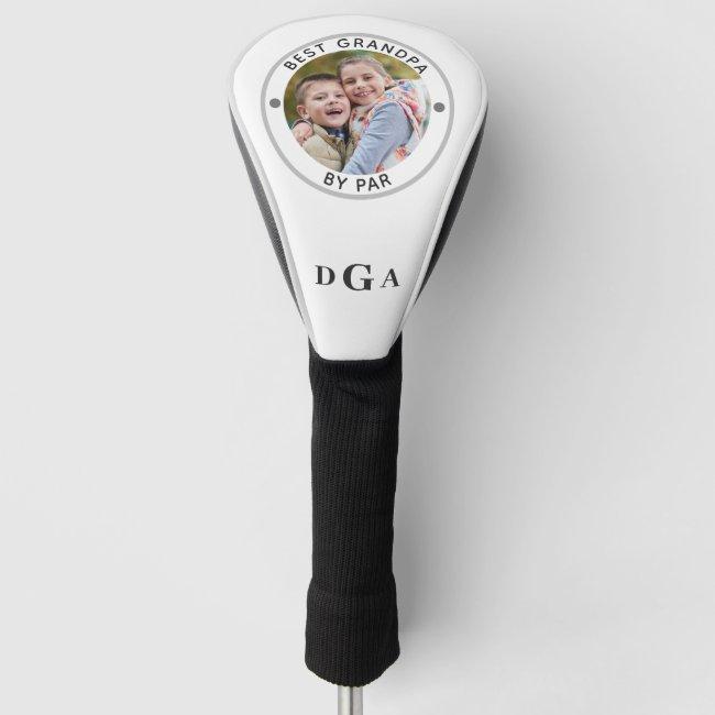 BEST GRANDPA BY PAR Photo Monogram Golf Head Cover
