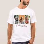 """Best Grandpa Ever 3 Photo Custom T-Shirt<br><div class=""""desc"""">Make your Grandfather happy with this pretty and modern """"Best Grandpa Ever"""" t-shirt. It is a perfect gift for Father's Day, Birthday, Christmas or any occasion to show him how much you care and love him. Just add three favorite photos you want, and you will have a unique and wonderful...</div>"""
