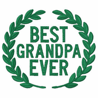 Best Grandpa Ever All Star Laurels Embroidery Embroidered Hoodies