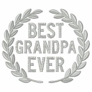 Best Grandpa Ever All Star Laurels Embroidery Hoody