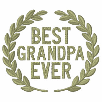 Best Grandpa Ever All Star Laurels Embroidery Embroidered Hoodie