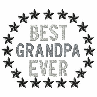 Best Grandpa Ever All Star Stars Embroidery Embroidered Polo Shirts