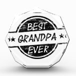 Best Grandpa Ever Black Acrylic Award