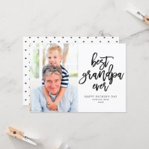 Best Grandpa Ever | Black On White Card