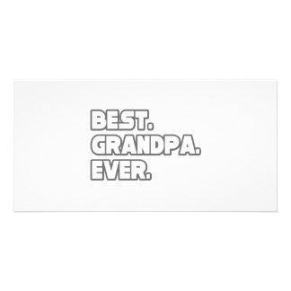 Best Grandpa Ever Custom Photo Card