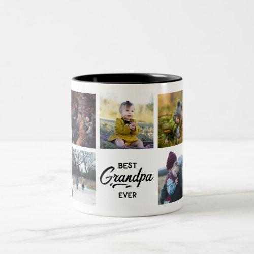 Best Grandpa Ever Custom Photo Mug