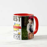 """Best Grandpa Ever Custom Photo Mug<br><div class=""""desc"""">Best Grandpa Ever custom photo mug. Comic book style! Great for Grandpa&#39;s birthday,  Father&#39;s Day or any day! Personalize and add two custom photos.</div>"""