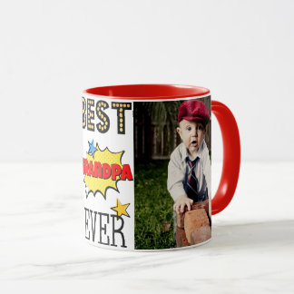 Best Grandpa Ever Custom Photo Mug
