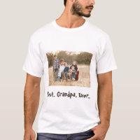 Best Grandpa Ever Family Photo T-Shirt