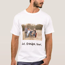 Best Grandpa Ever Family Photo T-Shirt