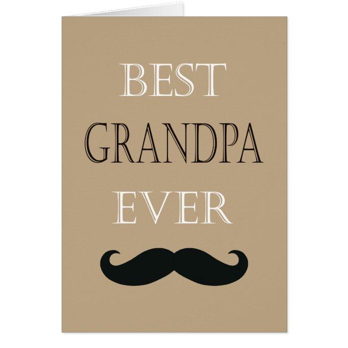 Best Grandpa Ever Happy Father's Day Custom Card | Zazzle
