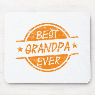 Best Grandpa Ever Orange Mouse Pad
