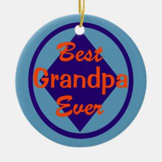 Best Grandpa Ever Personalized Ornament