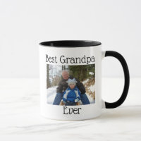 Best Grandpa Ever Photo Personalized Photo Mug