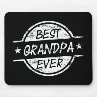 Best Grandpa Ever White Mouse Pad