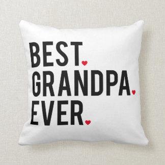 best grandpa ever, word art, text design throw pillow