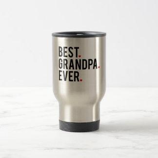 best grandpa ever, word art, text design travel mug