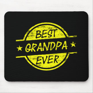 Best Grandpa Ever Yellow Mouse Pad