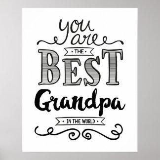 Best Grandpa in the World Art Print