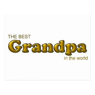 Best Grandpa in the World Postcard