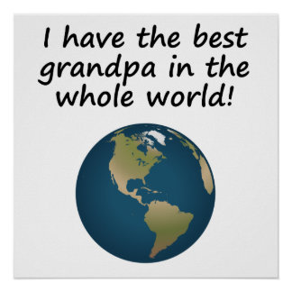 Best Grandpa In The World Poster