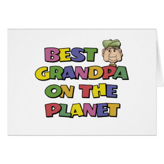 Best Grandpa On The Planet Greeting Card