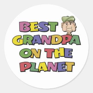 Best Grandpa On The Planet Classic Round Sticker