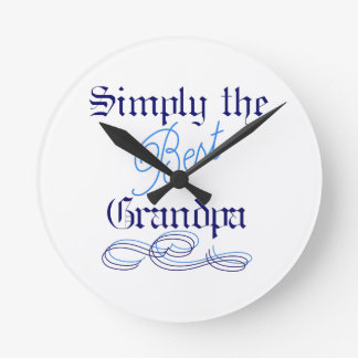 Best Grandpa Round Clock