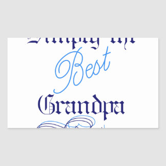 Best Grandpa Rectangular Sticker