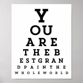 Best Grandpa Typography | Snellen Chart Poster